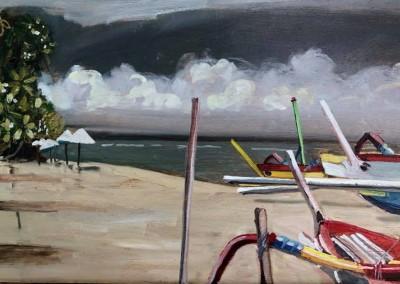 Frangipani and Boats